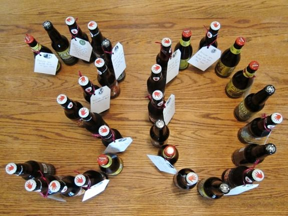 30th birthday idea!!! Buy 30 bottles of beer for his birthday and attached tags to them with reasons why you love him!!