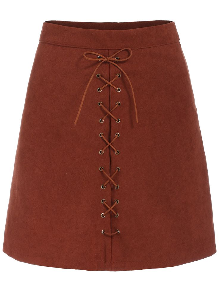falda encaje línea A-(Sheinside)