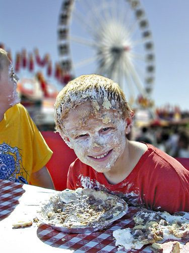 Pie eating contests are one of the many ways to enjoy food at the Arizona State Fair.