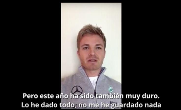 Vídeo en español | La emocionante despedida de Nico Rosberg #F1