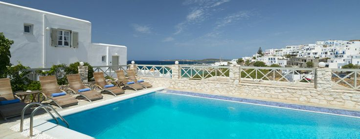 Pool with a sea view! Just two minutes from the #beach_of_Naoussa_in_Paros!
