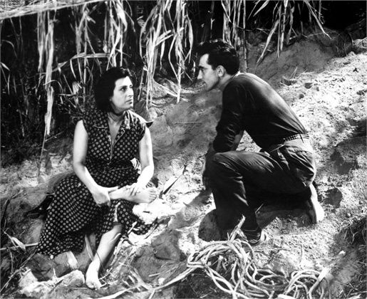 "Anna Magnani and Walter Chiari on the set of ""Bellissima"", by Luchino Visconti, 1951"