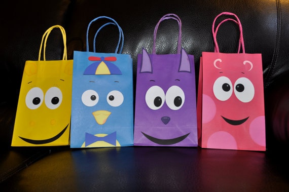 Backyardigans Birthday Party Gift bag Goody by PaperPerfectParties, $8.99