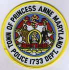 Princess Anne Police Patch Maryland MD