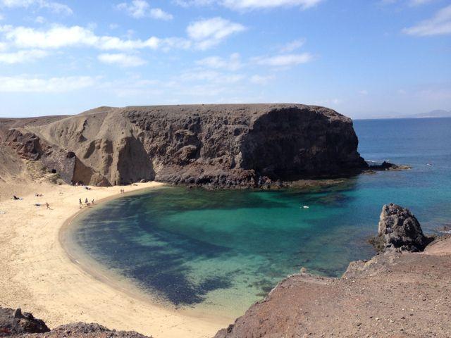 Playa Papagayo in Lanzarote, Lanzarote