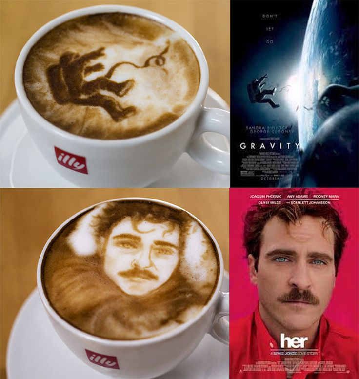 If It's Hip, It's Here: Best Picture Nominees As Coffee Art by Michael Breach