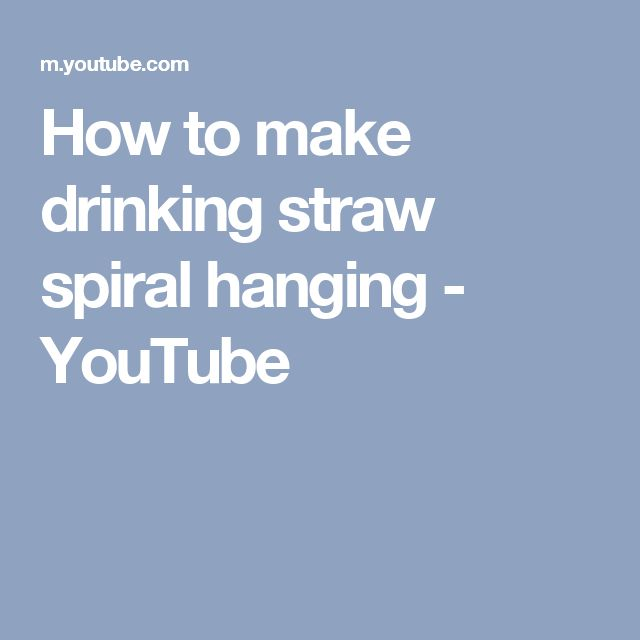 How to make drinking straw spiral hanging - YouTube