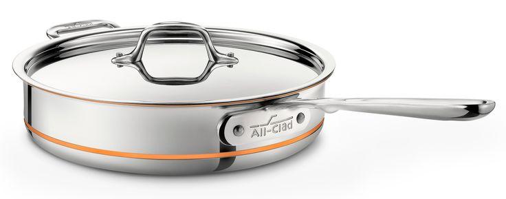 Copper Core Saute Pan with Lid