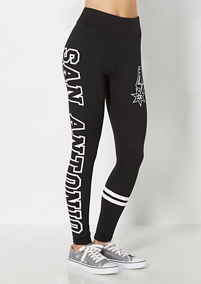 image of San Antonio Spurs Striped Legging