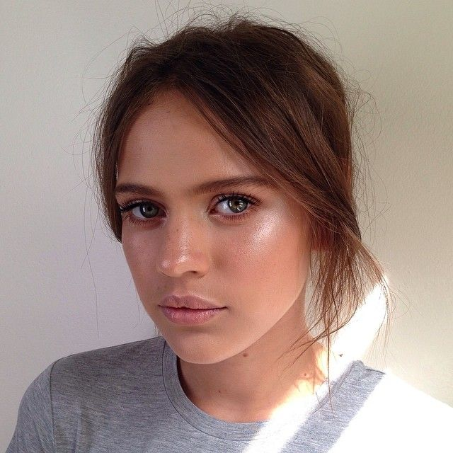 dewy skin, natural look