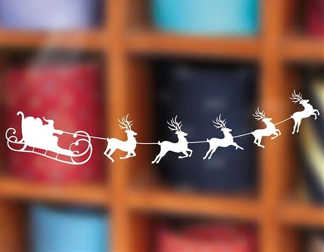 Adornos navide os online en vinilo el trineo de santa - Decorativos de navidad ...
