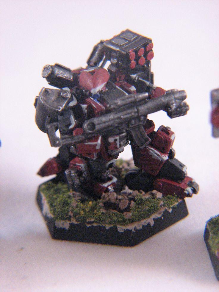 Heavy Gear Blitz - Dream Pod 9 - PRDF Warrior IV Gear painted by Chad Chapman.