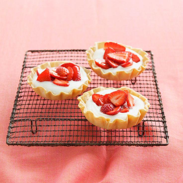 Voir la recette de la tarte aux fraises rapide