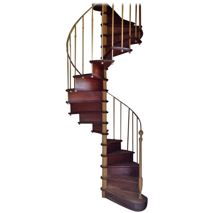 Cast Iron And Oak Spiral Staircase