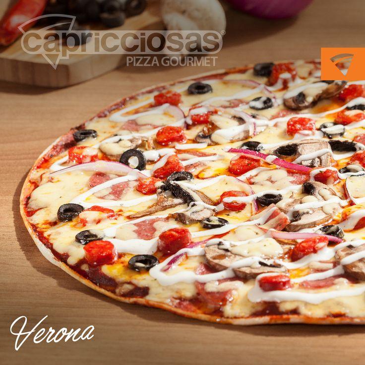 Pizza Verona @Capricciosas #Pizza #Capricciosas #Verona #Ingredientes #Antojo #Gourmet #Deli #Food #Domicilio