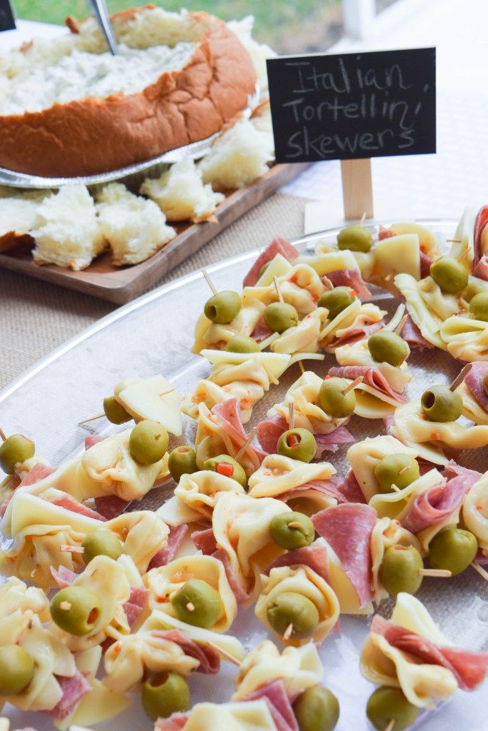 Baby Shower Food ; Appetizer ; Finger Food ; Italian Tortellini Skewer ; BABYQ BBQ Baby Shower