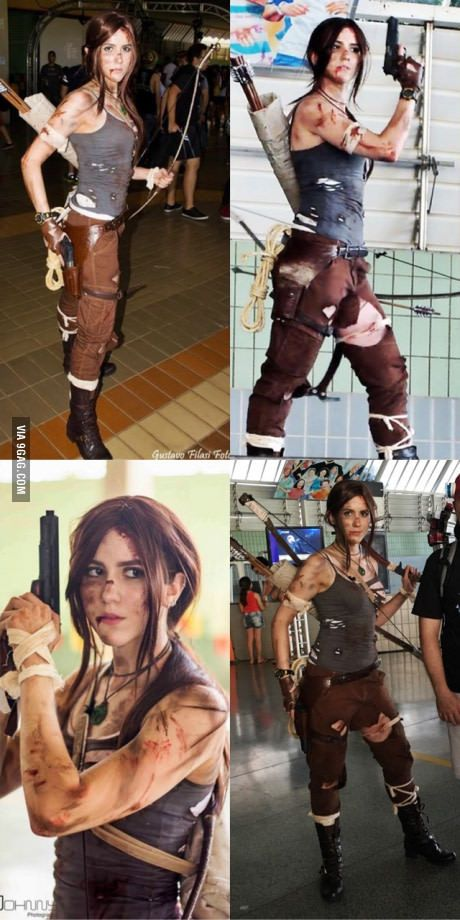 For those who wanted to see my full Lara Croft cosplay. Taken at Campinas Anime Fest