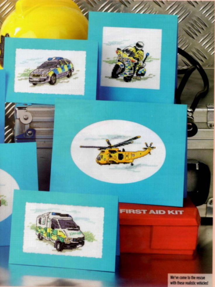 Everyday Heroes 2/2 Cross Stitch Card Shop Issue 83 March/April 2012 Saved