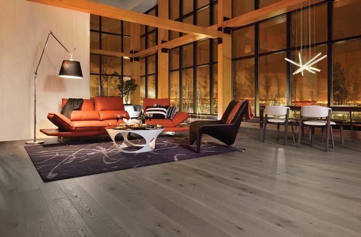 Collection Flair | Plancher de chêne blanc à caractère prononcé et de couleur Dark Leaf