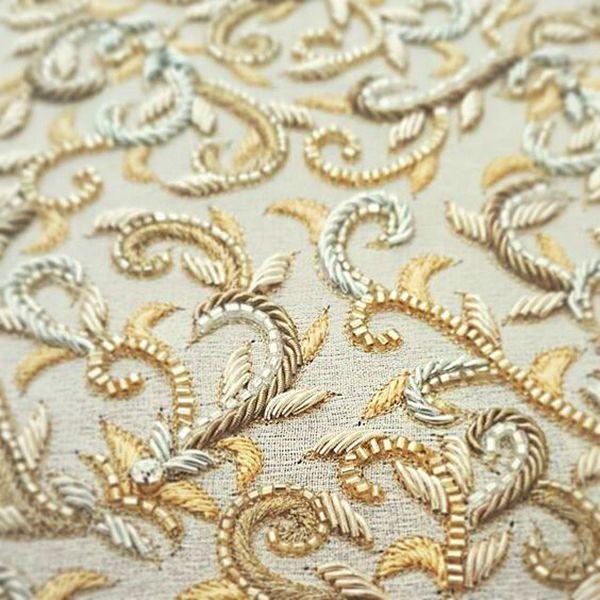 Сложные узоры, канитель, бисер и пайетки в прекрасных вышивках высокой моды - Ярмарка Мастеров - ручная работа, handmade