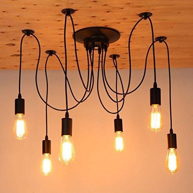6 Heads Vintage Ceiling Lamp Edison Light Chandelier Pendant Rm 129 00 In Subang
