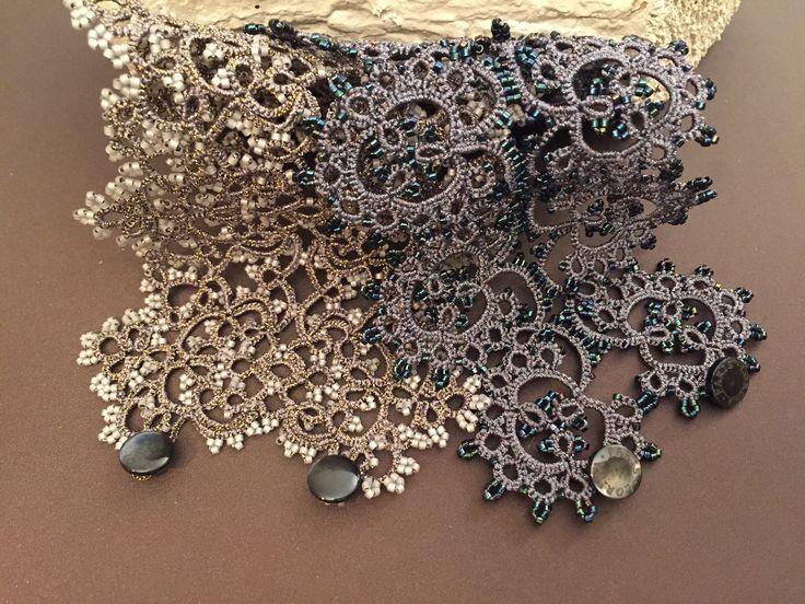 Lorina frivolite hand made jewellery. Exclusively in the UK from Leoro: info@leoro.co.uk