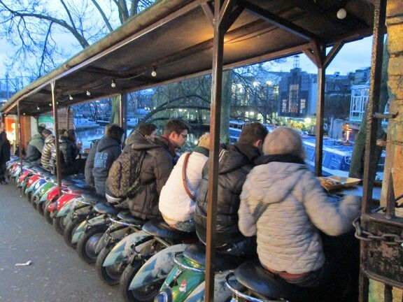 london, camden market - vespa seating