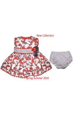Vestido de bebé niña sin mangas rojo Dolce Petit