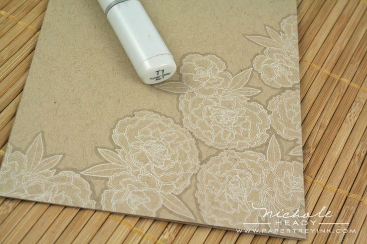 stamp in white on craft paper and outline with a T1 copic... would make a great seashell card too!