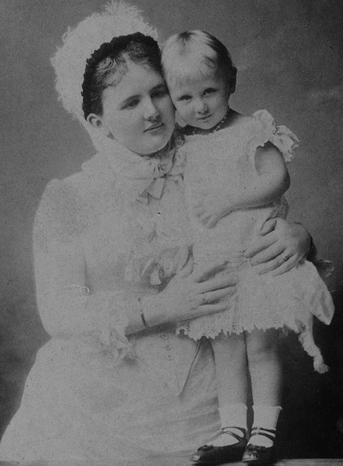 Queen Emma of the Netherlands Spam  || Queen Emma with her only child Princess Wilhelmina later Queen of the Netherlands.