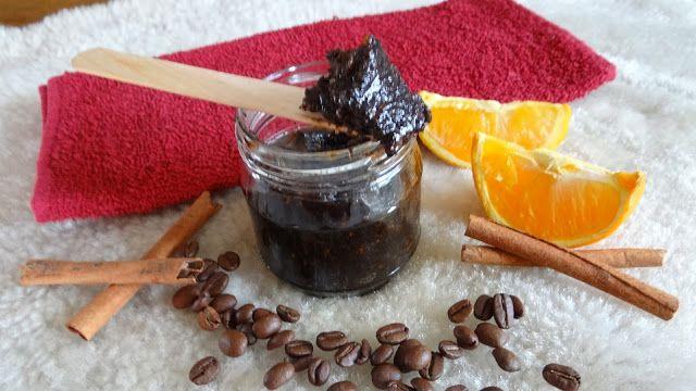 Lady at home DIY Blog: Pomarańczowo - kawowy peeling do ciała Orange - Coffe Body Scrub DIY