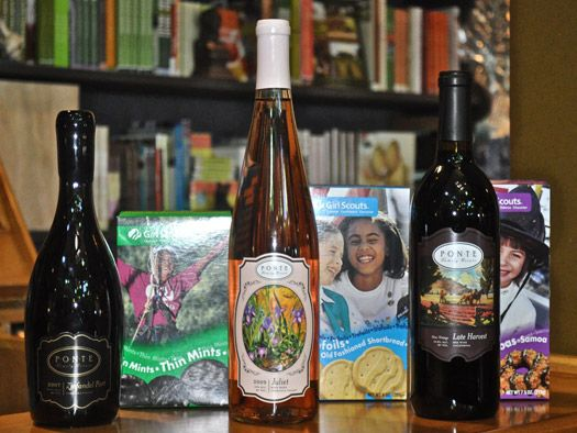 Pairing wine with Girl Scout Cookies! #pontewinery