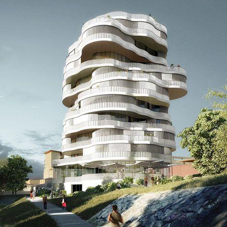 Jardins de la Lironde by Farshid Moussavi Architecture