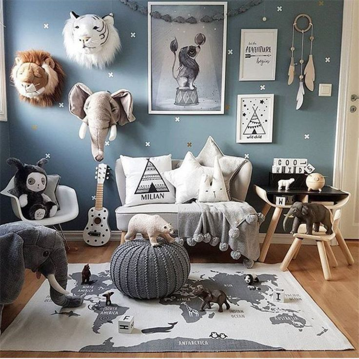 Spiel, das Art-Kinderzimmer-Dekorationsmatten krie…