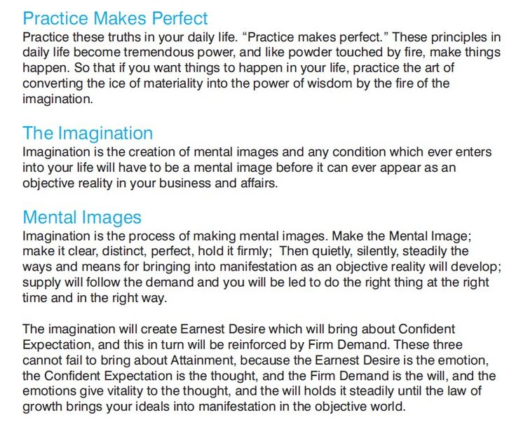"""The power of mental imaging. From Charles Haanel's """"The Psychology of Business Success""""."""