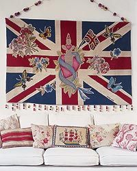 If you are going to hang a Union Jack - go big or go home - Lucinda Chambers Jubilee wall-hanging for The (wonderful) Rug Company.