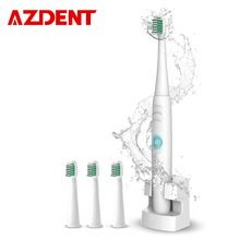 A39Plus Carga Sonora escova de Dentes Elétrica Sem Fio Recarregável À Prova D' Água Escova de Dentes Elétrica 4 Cabeça da Escova de Dente para o Miúdo Adulto alishoppbrasil