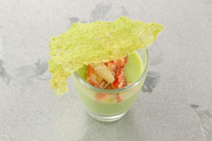 〈前菜小皿〉枝豆のビシソワーズ ずわい蟹