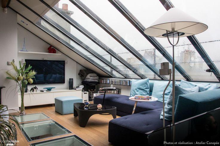 Atelier d'artiste ouvert et lumineux, Paris, Atelier Canopée - architecte