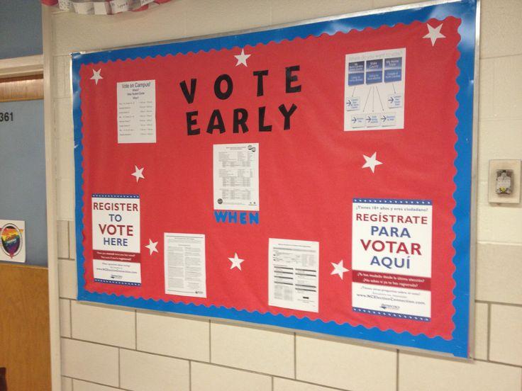 Voter registration bulletin board