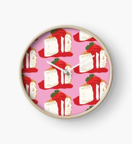 Cheesecake Clock #food #dessert #strawberry #fruit #cheesecake