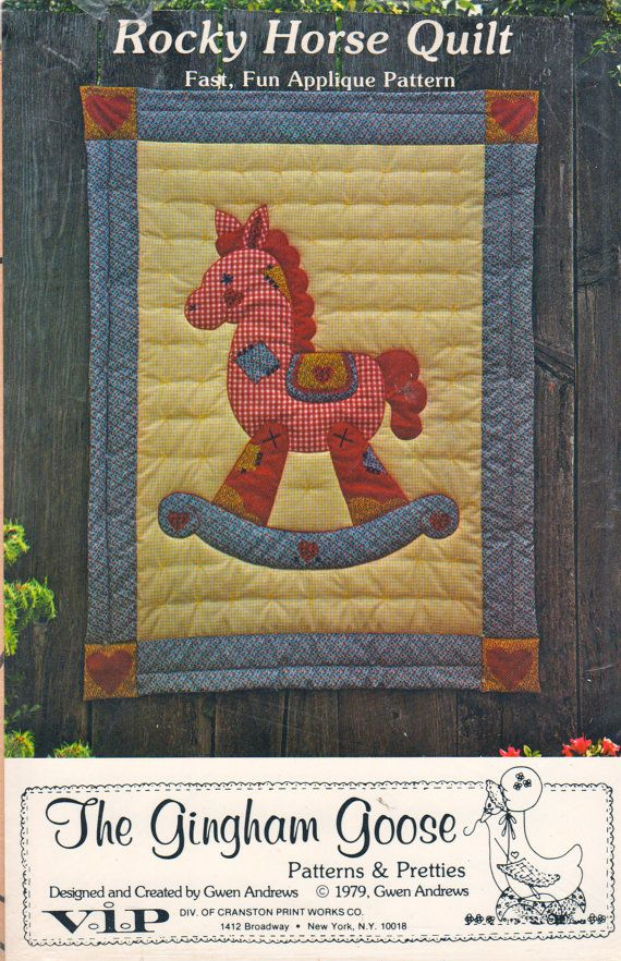 The Gingham Goose 003 Rocky Horse Quilt Pattern Easy