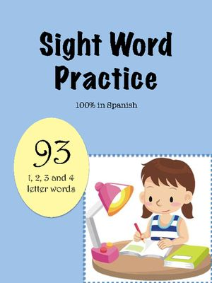 Spanish Sight Word Worksheets (94 1, 2, 3, and 4, letter words!) from sra casado on TeachersNotebook.com -  (97 pages)  - This packet contains 94 common sight words (see list below) that are 1, 2, 3 or 4 letters long. These worksheets are 100% in Spanish and appropriate for early elementary dual language or immersion pro