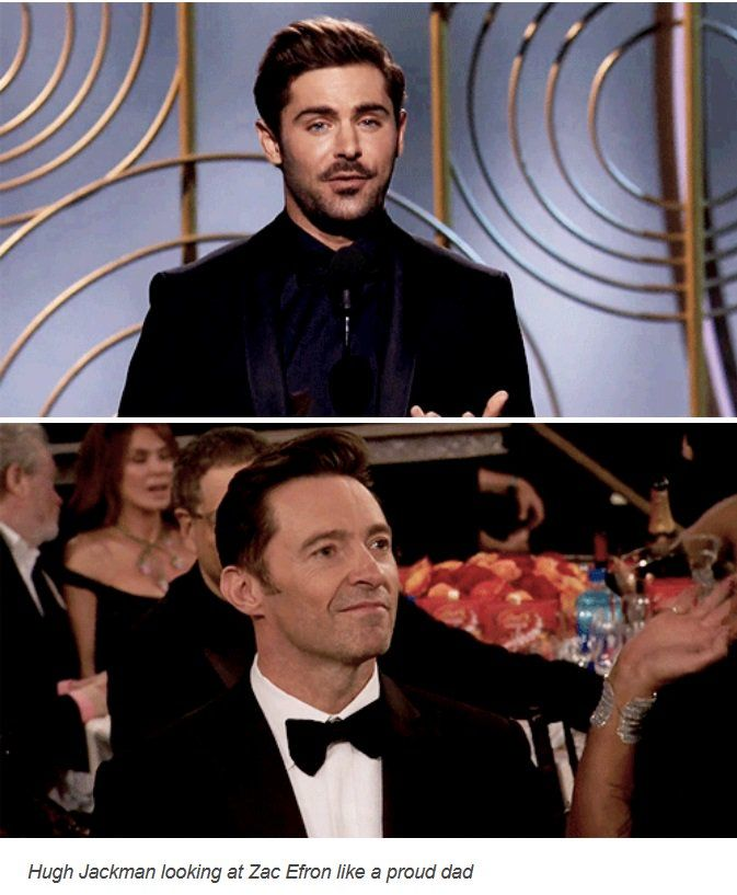 The Greatest Showman representing at the Golden Globes