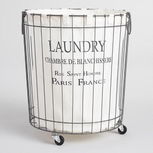One of my favorite discoveries at WorldMarket.com: Claudette Wire Hamper