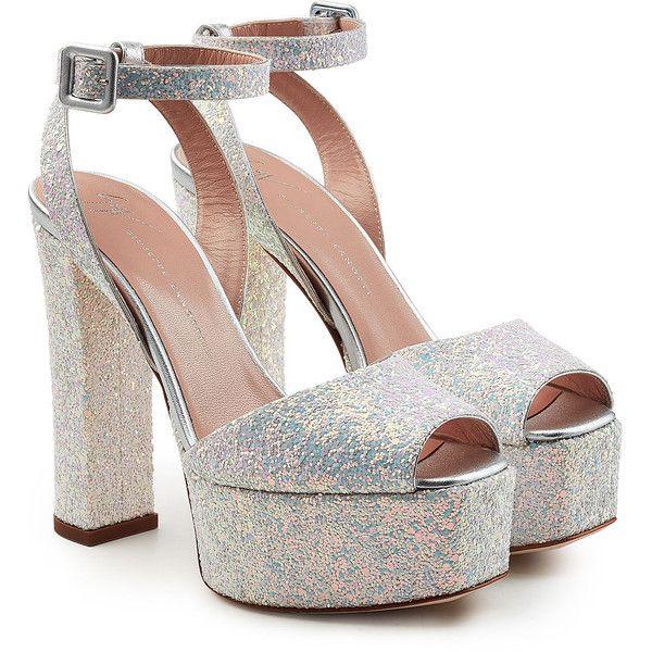 cbb5bb8c445f Giuseppe Zanotti Lavinia Leather Platform Sandals ( 625) ❤ liked on Polyvore  featuring shoes