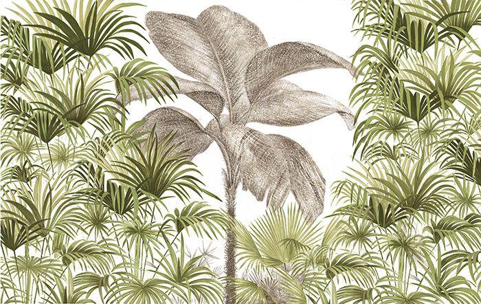 des papiers peints d 39 t palmiers papier peint et peindre. Black Bedroom Furniture Sets. Home Design Ideas