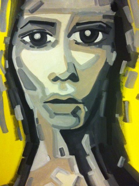Mary Reggae 50 x 70 Acryl na płótnie