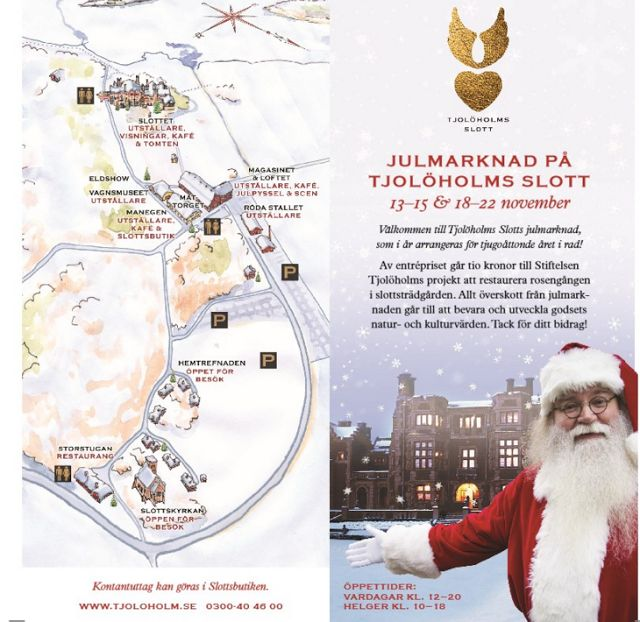 Marie-Louise Fritzén-författare: Julmarknad Tjolöholms slott