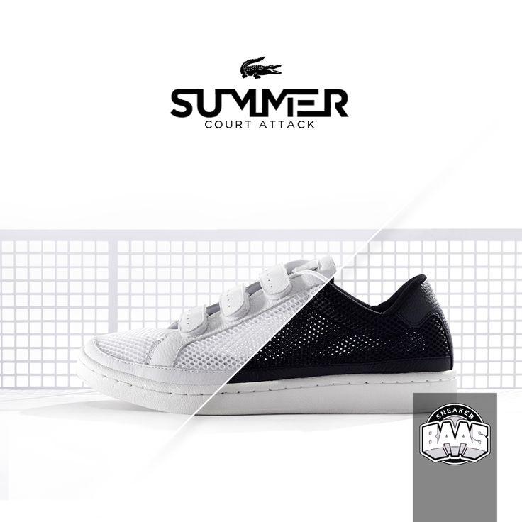 "Lacoste Camden New Cup Mesh ""White"" & ""Black"" | Lacoste komt hard! | http://www.sneakerbaas.nl/catalogsearch/result/?q=camden | #SUMMER #COURT #LACOSTE #BAASBOVENBAAS"